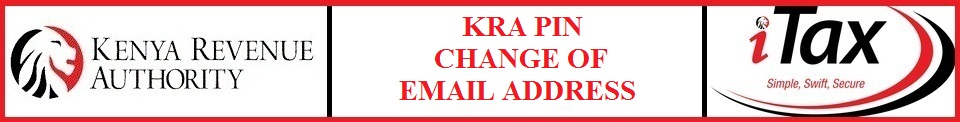 kra pin change of email address