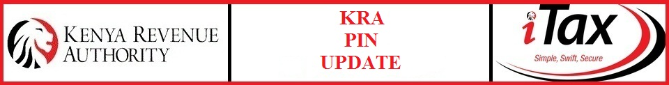 kra pin update