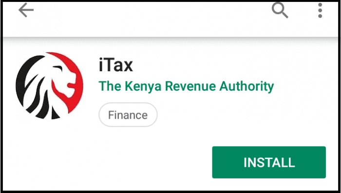 download and install kra itax app on smartphone