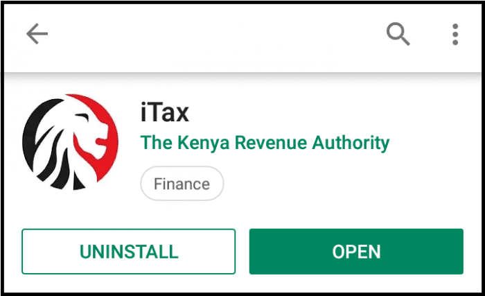 open the kra itax app