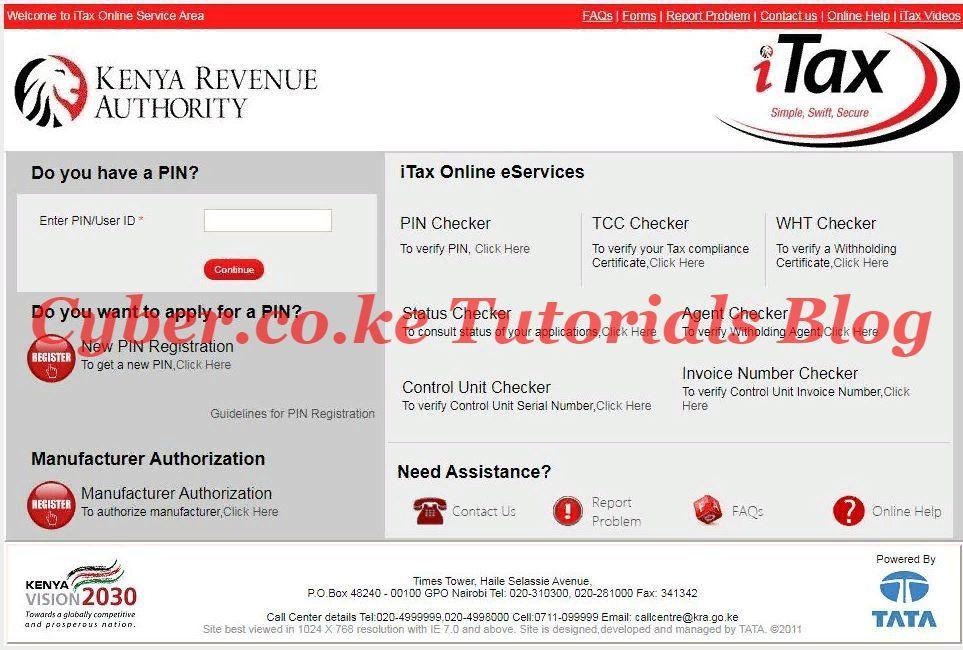access kra itax website