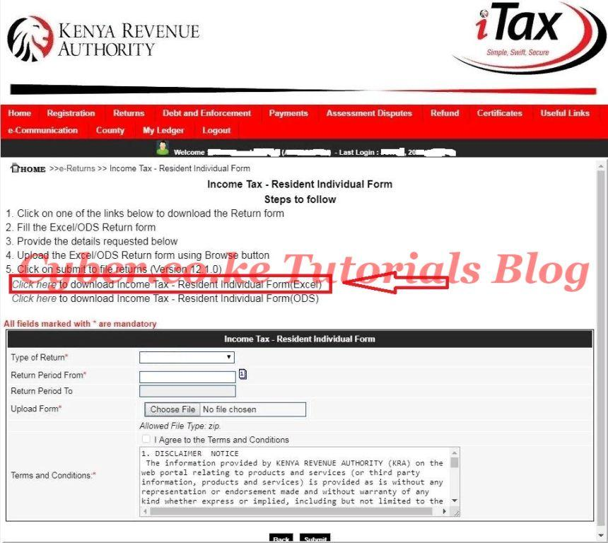 download income tax resident individual form