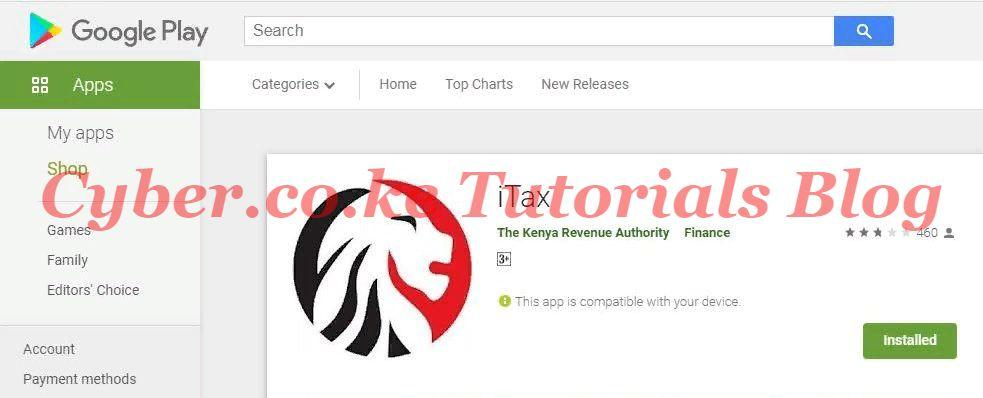 download kra itax mobile app