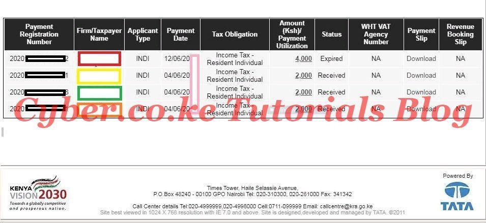 itax kra payments results