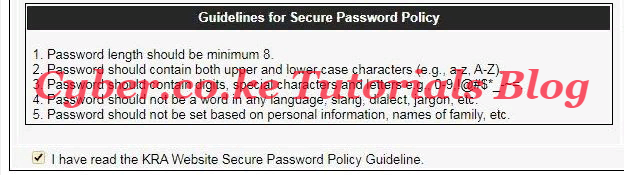 kra guideline for secure password policy