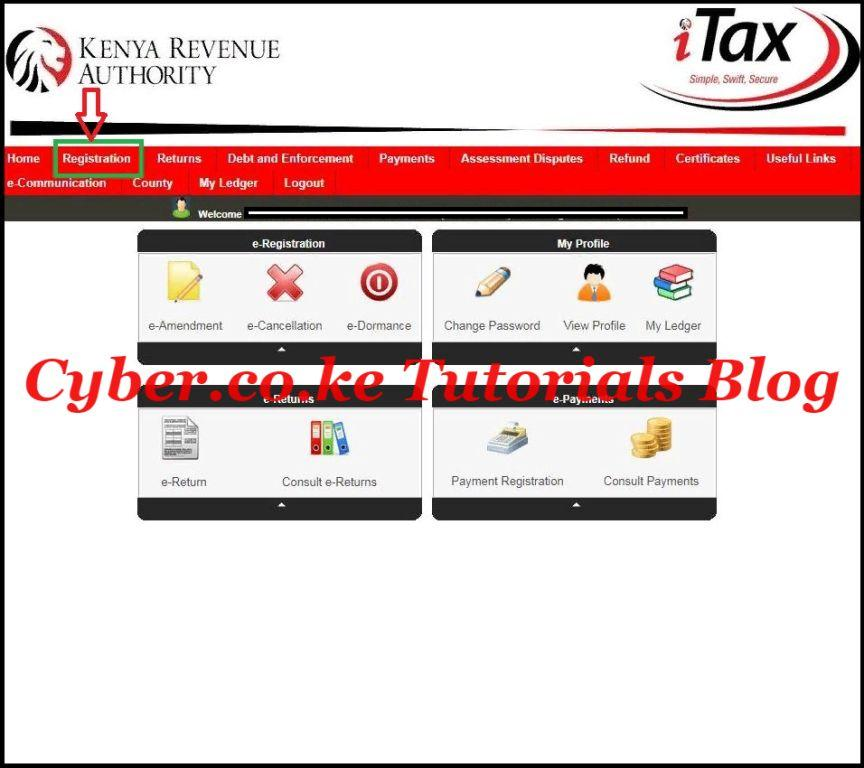 click on registration tab then reprint pin certificate