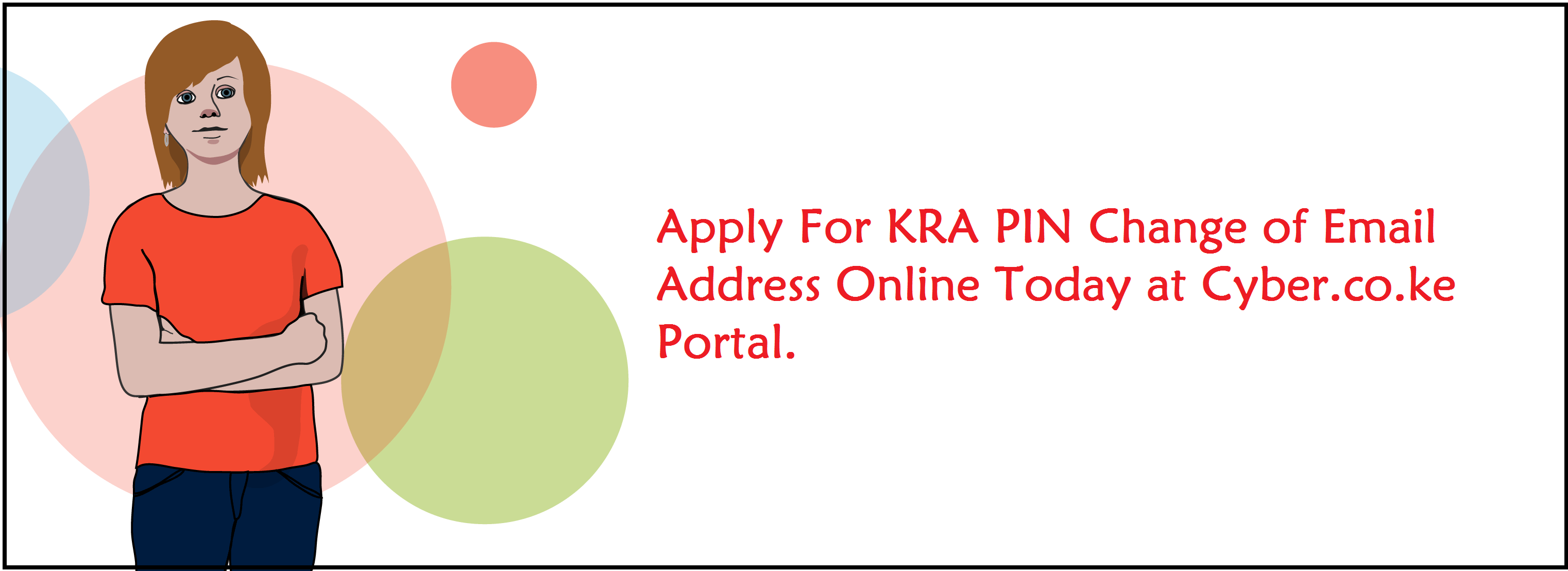 kra pin change of email address services at cyber.co.ke portal