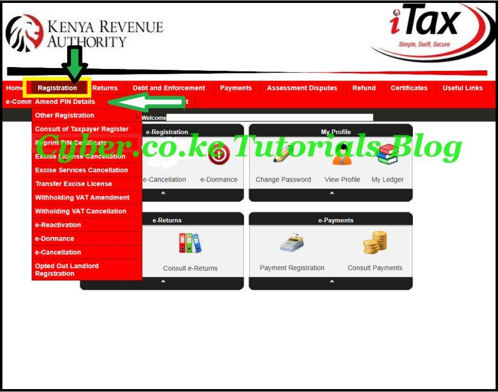 click on amend pin details