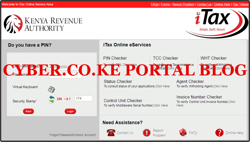 enter kra password reset and solve arithmetic question