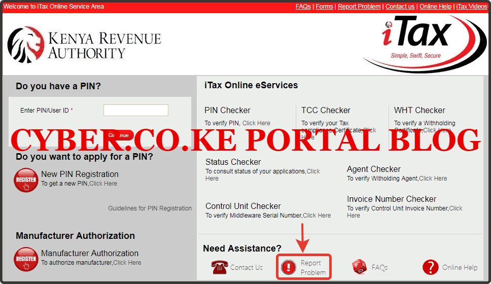 click on report problem icon on itax portal