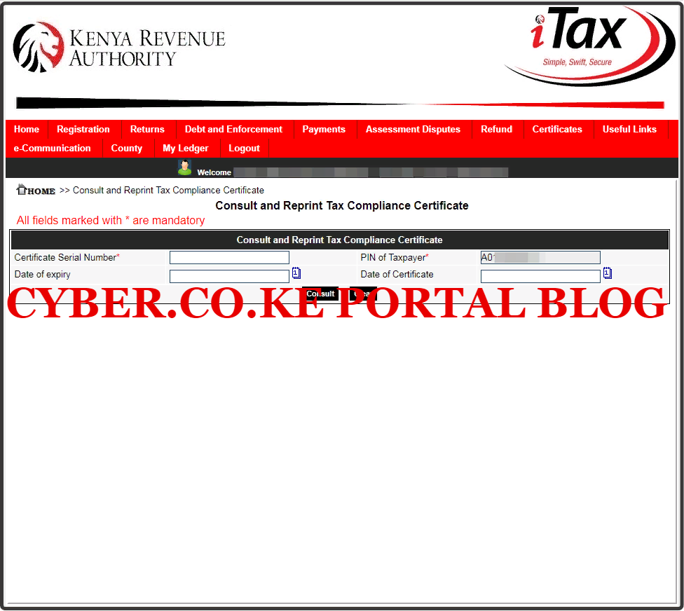 consult and reprint kra clearance certificate
