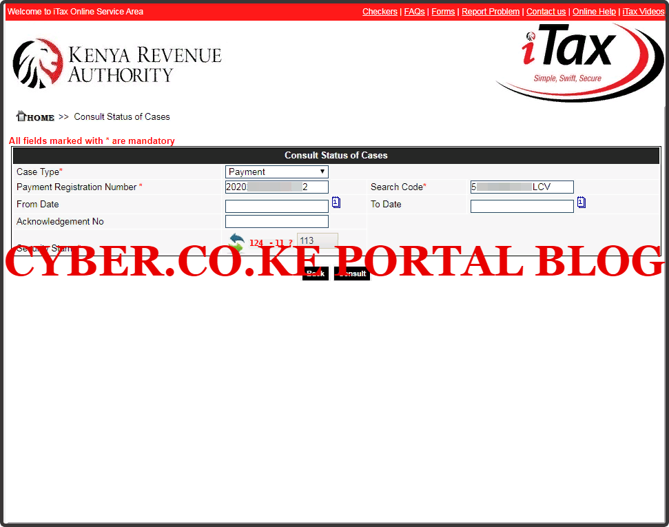 consult status of kra payment