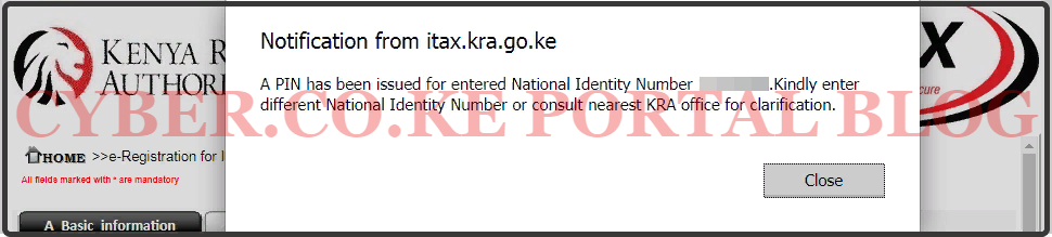 recovery of kra pin certificate