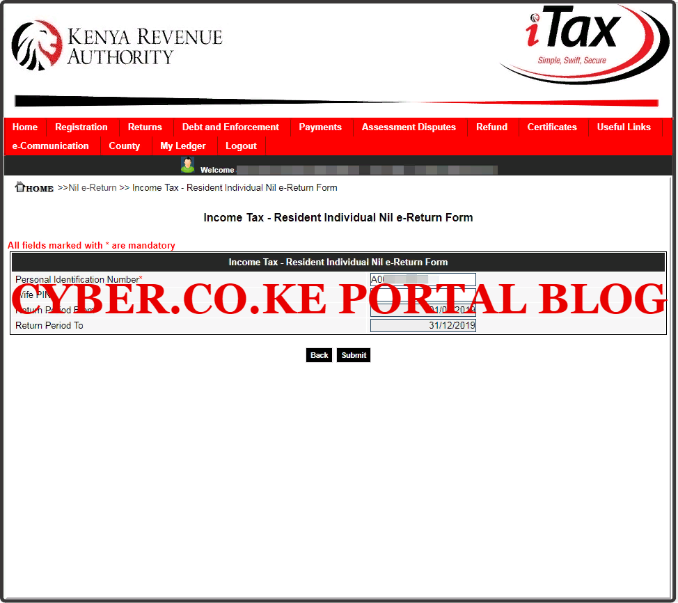 fill income tax resident individual returns form