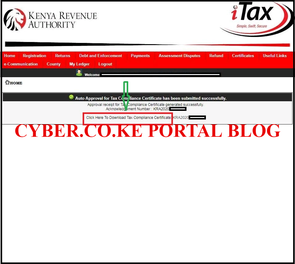 Download Tax Compliance Certificate From KRA