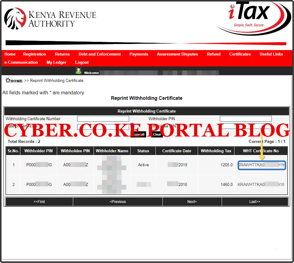 download withholding certificate