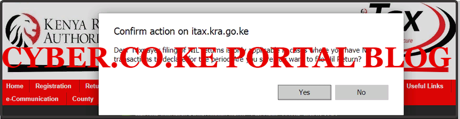 submit kra nil returns for the first time